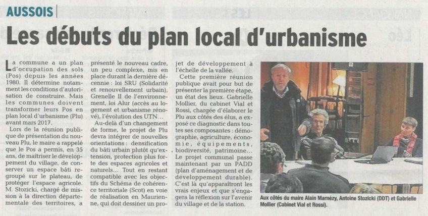 AUSSOIS – Les débuts du plan local d'urbanisme