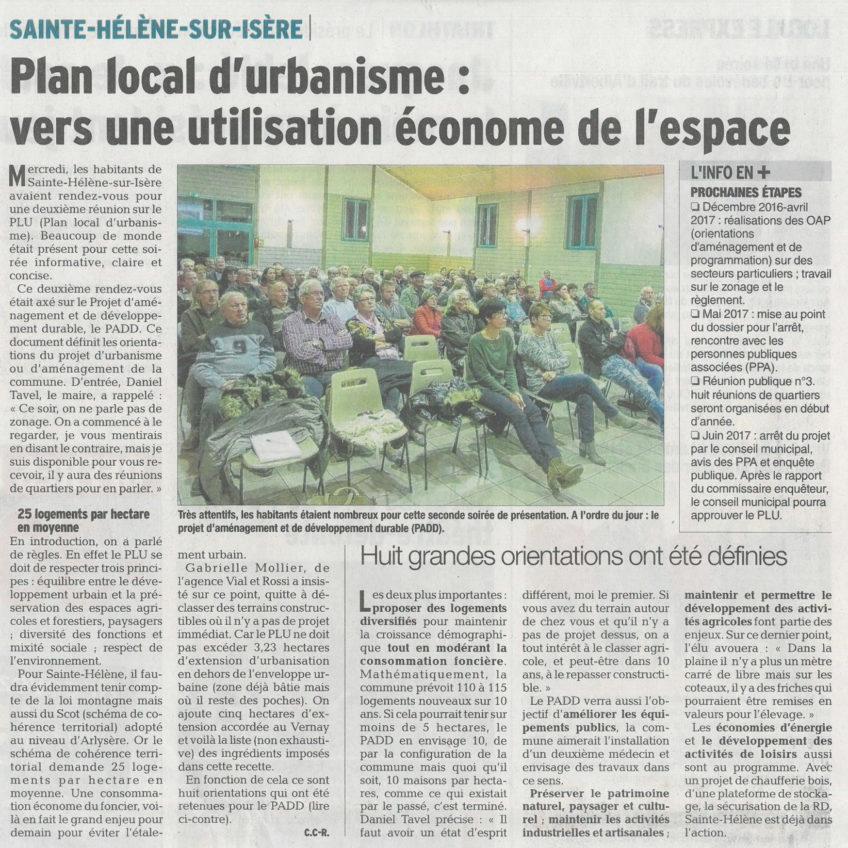 SAINTE-HELENE-SUR-ISERE – Plan local d'urbanisme